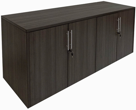 Charcoal 4-Door Locking Storage Credenza