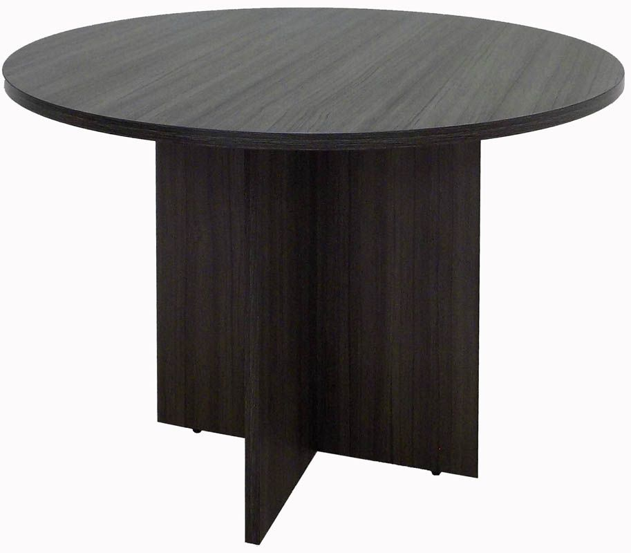 """Charcoal 42"""" Round Conference Table"""
