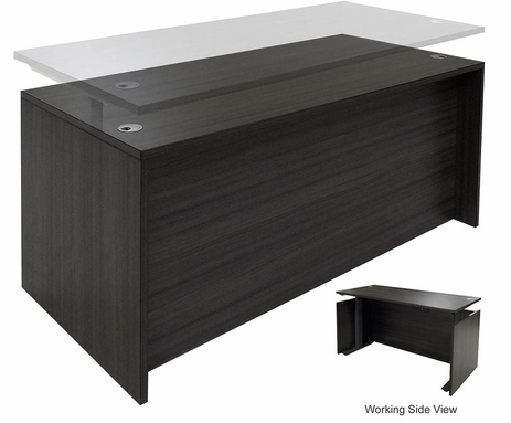 Charcoal Adjustable Height Manager's Desk