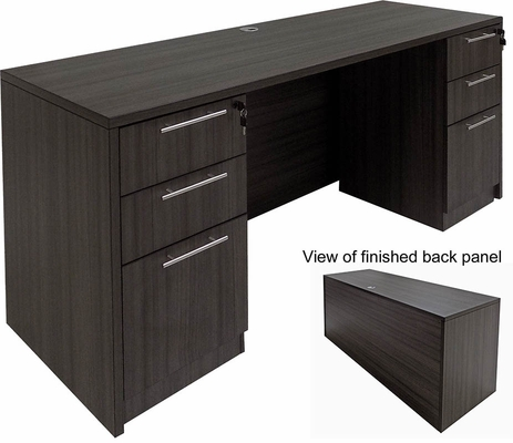 Charcoal Kneespace Credenza