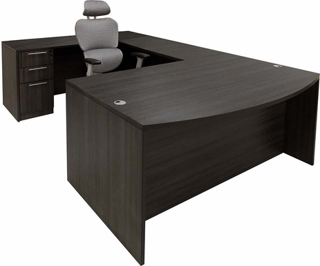 Charcoal U-Shaped Workstation