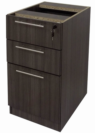 Charcoal Woodgrain Laminate Optional Box/Box/File Drawer
