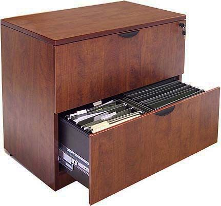 Cherry Laminate 2-Drawer Lateral File
