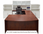 Cherry/White Complete  Structures Office Furniture Suite