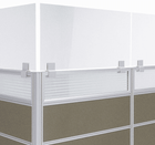"24""W x 16""H - Clamp On Cubicle Sneeze Guard for .75"" - 1.25"" Thick Panels - See Other Sizes - IN STOCK!"