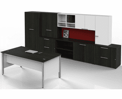 Concepts Custom Executive Desk & Wall Unit Package