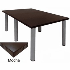 Conference Tables w/ Round Post Legs in 6 Colors from 6' to 16' Long.  6' x 4' Size-See Other Sizes Below