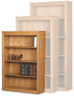 Contemporary Real Oak Bookcases - Made in USA