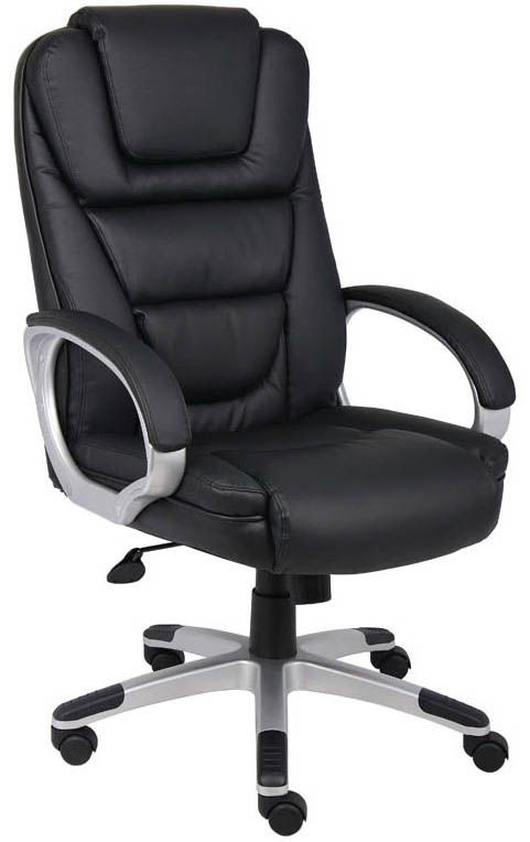 Contoured LeatherPlus Office Chair in Black