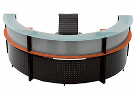 Curved Circular Reception Desks
