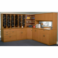 Custom Mail Center Furniture & Sorting Systems - Corner Mail Sorting Station