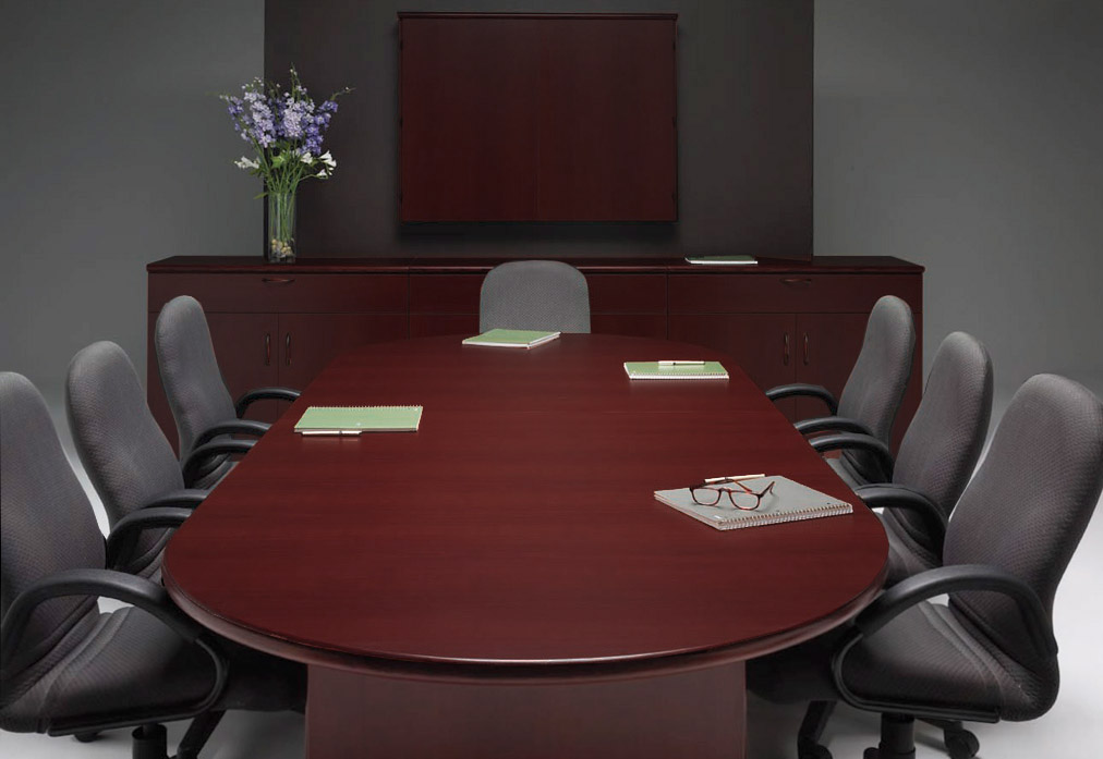 Custom Oval Racetrack Conference Tables