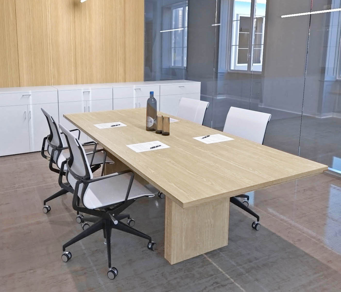 "Custom Rectangular Boardroom Table - 40"" x 40"" Table - Other Sizes"