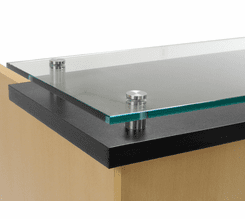 Custom Standing Height Glass Top Reception Desk Series - 6'W Desk