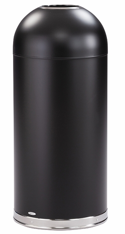 Dome Top Waste Receptacle With Open Top