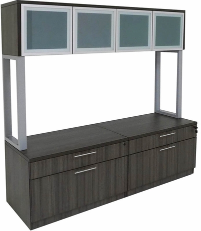 Double Box/Lateral Credenza w/Hutch