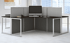Easy Office Cubicle Series - 4 Person Cluster L-Cubicle