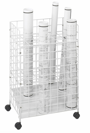 Economy Roll File Series - 24 Compartment White Coated Wire Roll File - See Other Sizes