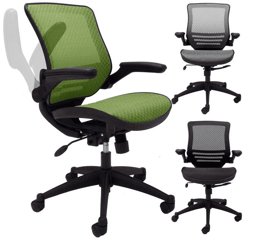 Astounding Elastimesh All Mesh Ergonomic Office Chair W Flip Up Arms Lamtechconsult Wood Chair Design Ideas Lamtechconsultcom