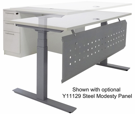Electric Lift Height Adjustable L-Shaped Desk with Height Adjustable 60