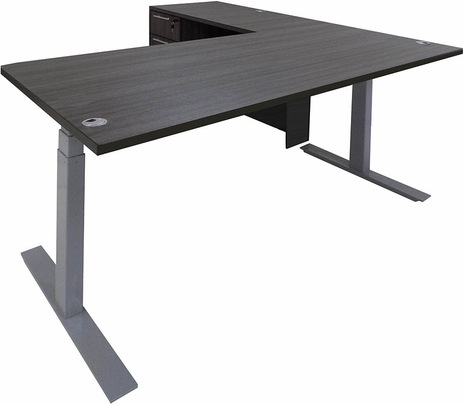 Electric Lift Height Adjustable L-Shaped Desk with Height Adjustable 66