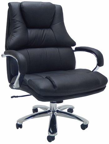 Extra Wide Big & Tall 500 Lbs. Capacity Leather Desk Chair w/ 28