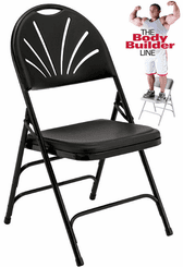 Fan-Back Polypropylene Folding Chair - 300 lb Capacity