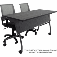 Flip Top Training Tables w/Privacy Panel - 60