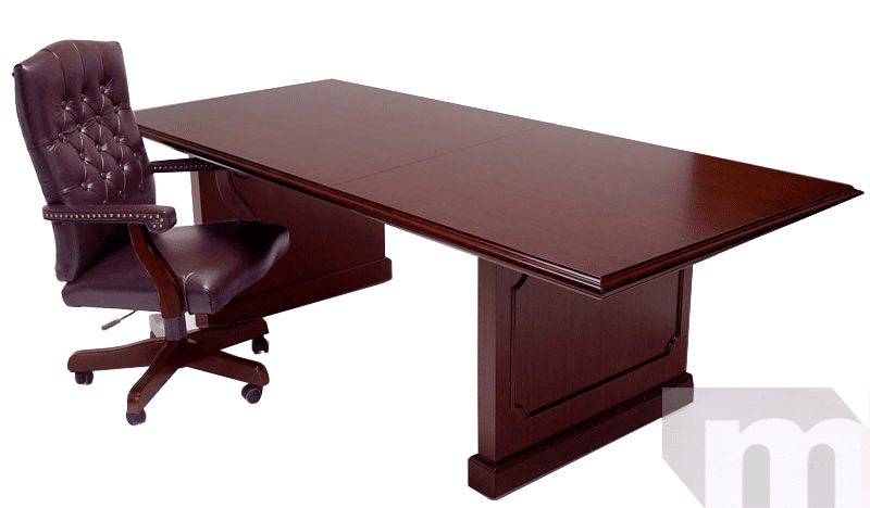 Franklin Dark Cherry Traditional 10 Veneer Conference Table
