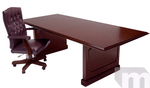 Franklin Dark Cherry Traditional 10' Veneer Conference Table