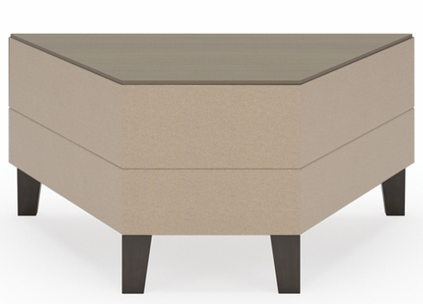 Fremont 45 Degree Wedge Table in Standard Fabric or Vinyl