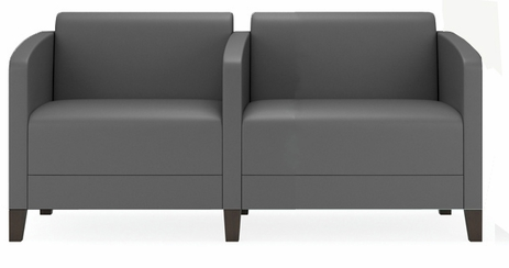 Fremont 500 lbs 2-Seater w/Center Arm in Upgrade Fabric or Healthcare Vinyl