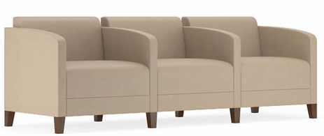 Fremont 500 lbs 3-Seater w/Center Arms in Standard Fabric or Vinyl