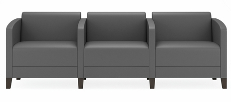 Fremont 500 lbs 3-Seater w/Center Arms in Upgrade Fabric or Healthcare Vinyl