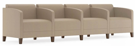 Fremont 500 lbs 4-Seater w/Center Arms in Standard Fabric or Vinyl