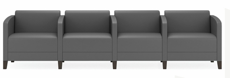 Fremont 500 lbs 4-Seater w/Center Arms in Upgrade Fabric or Healthcare Vinyl
