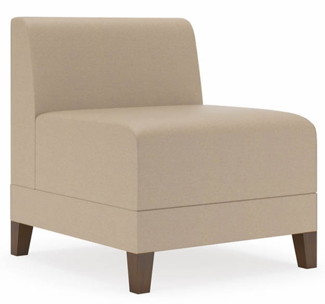 Fremont 500 lbs Armless Guest Chair in Standard Fabric or Vinyl