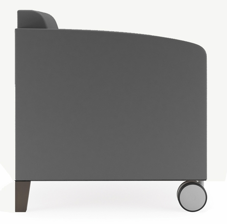 Fremont 500 lbs Guest Chair on Casters in Upgrade Fabric or Healthcare Vinyl