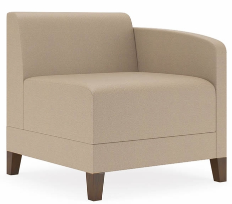Fremont 500 lbs Left Arm Guest Chair in Standard Fabric or Vinyl