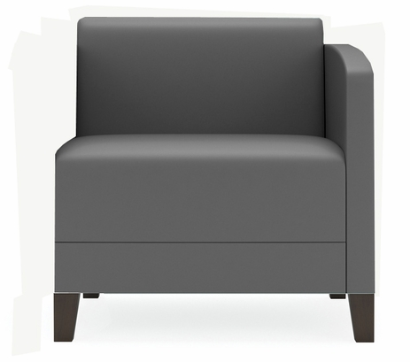 Fremont 500 lbs Left Arm Guest Chair in Upgrade Fabric or Healthcare Vinyl