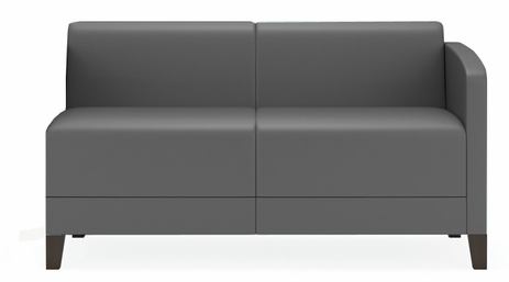 Fremont 500 lbs Left Arm Loveseat  in Upgrade Fabric or Healthcare Vinyl
