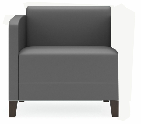 Fremont 500 lbs Right Arm Guest Chair in Upgrade Fabric or Healthcare Vinyl
