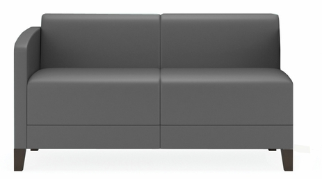 Fremont 500 lbs Right Arm Loveseat in Upgrade Fabric or Healthcare Vinyl
