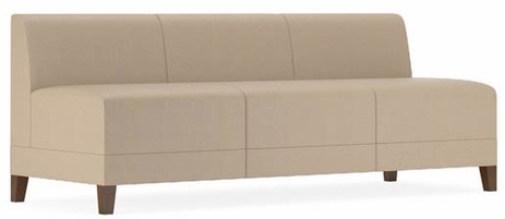 Fremont 700 lbs Armless Sofa in Standard Fabric or Vinyl