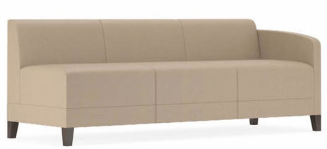 Fremont 700 lbs Left Arm Sofa in Standard Fabric or Vinyl