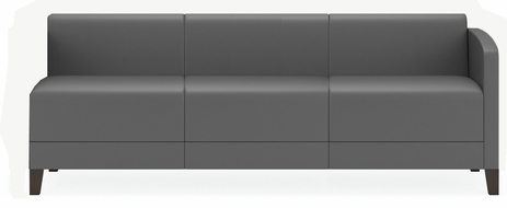 Fremont 700 lbs Left Arm Sofa  in Upgrade Fabric or Healthcare Vinyl