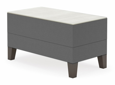 Fremont Small Rectangular Table in Upgrade Fabric or Healthcare Vinyl