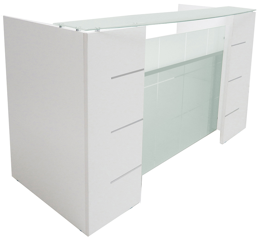 Glass Front Reception Desk in 7 Colors!
