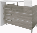 """Gray Oak and White Cap Reception Desk - 55"""" Wide.  See larger size below."""