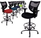 "Heavy Duty 400 lb Cap. Mesh Drafting Stool- 26""-29"" or 29""-32"" Seat Ht."